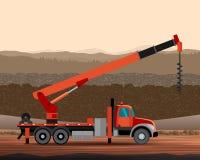 Digger utility crane Royalty Free Stock Image