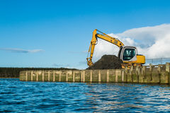 Digger Wharf Work Royalty Free Stock Images