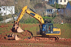 Digger working Royalty Free Stock Photo