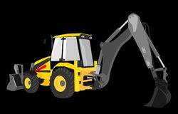 Digger yellow  Royalty Free Stock Images
