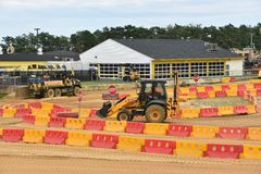 Diggerland USA in West Berlin, New Jersey. Diggerland USA, the only construction themed adventure park in North America, in West Berlin, New Jersey stock photos