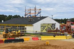 Diggerland USA in West Berlin, New Jersey. Diggerland USA, the only construction themed adventure park in North America, in West Berlin, New Jersey stock photography