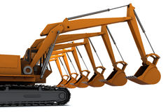 Diggers Royalty Free Stock Photo