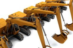 Diggers Royalty Free Stock Images