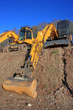 Diggers. On a construction site Stock Images