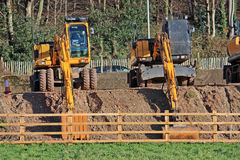 Diggers. On a construction site Royalty Free Stock Photography
