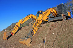 Diggers. On a construction site Stock Photography