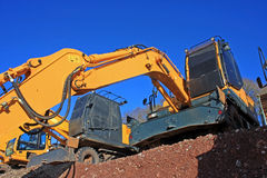 Diggers. Digger on a construction site Stock Images