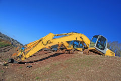 Diggers. Digger working on a construction site Stock Images