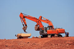 Diggers and Dump Truck Stock Photo