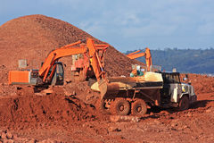 Diggers and Dump Truck Royalty Free Stock Images