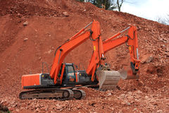 Diggers Royalty Free Stock Image