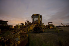 Diggers under the moon Stock Photography