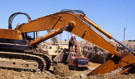 Diggers at work Royalty Free Stock Images