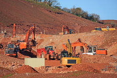 Diggers working Royalty Free Stock Photography