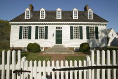 Digges House. Built in 1775 in Yorktown, Virginia. First owner Dudley Digges' house now resides in the Colonial National Historical Park, Historical Triangle Stock Photo