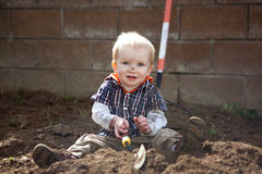 Digging Stock Photo