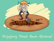 digging Foto de archivo libre de regalías