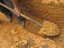 Free Digging A Trench Stock Photos - 6593303