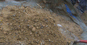 Digging ballast Stock Image