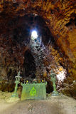 The digging cave in Lao,the cave for evasion from air bomb Royalty Free Stock Images
