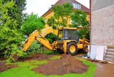 Digging excavator Royalty Free Stock Photography