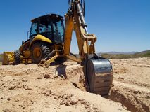 Digging the footings 6 royalty free stock image