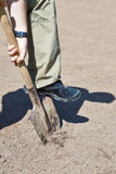 Digging garden ground Royalty Free Stock Images