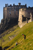 Digging ground beside Edinburgh Castle Royalty Free Stock Images