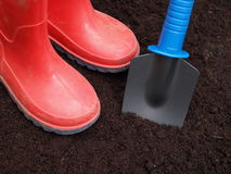 Digging the hole Royalty Free Stock Photography