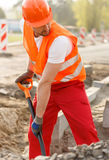 Digging a hole Stock Photography