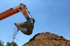 Digging Machine Royalty Free Stock Image
