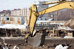 Digging machine scoop Royalty Free Stock Photography