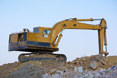 Digging machine. View of a digging machine on site stock image