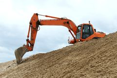 Digging Machine Working Stock Photos