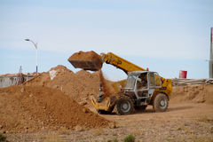 Digging machine working Stock Images