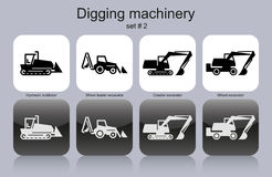 Digging machinery Royalty Free Stock Photos