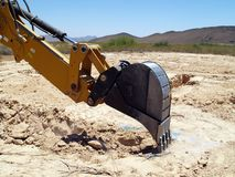 Digging on the mark 3 Stock Photo