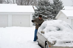 Digging out car Royalty Free Stock Photography