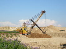 Digging soil royalty free stock photo