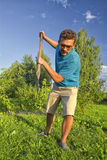 Digging a vegetable garden Stock Photography