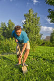 Digging a vegetable garden Stock Photos