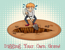 Digging your own grave Stock Photos