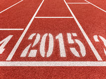Diggits 2015 del Año Nuevo en pista del deporte Foto de archivo