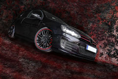 Digiart - the black car Royalty Free Stock Images