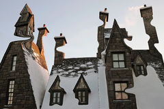 Digiart - The houses of Hogsmeade. In Universal Islands of Adventure in flordia Royalty Free Stock Photo