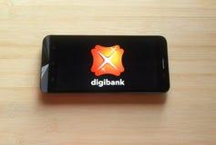 Digibank app stock afbeelding