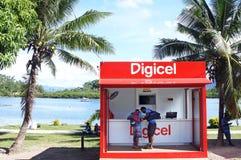 Digicel商店在斐济 免版税库存图片