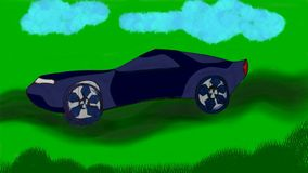 Digines van de menings uiteindelijke auto Stock Afbeelding