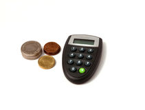 Digipass com moedas Foto de Stock